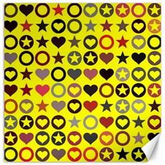 Heart Circle Star Canvas 16  X 16   by Nexatart