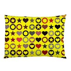 Heart Circle Star Pillow Case (two Sides) by Nexatart
