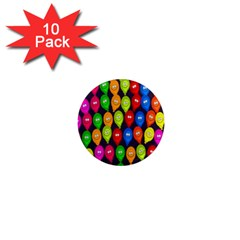 Happy Balloons 1  Mini Magnet (10 Pack)