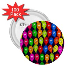 Happy Balloons 2 25  Buttons (100 Pack)  by Nexatart
