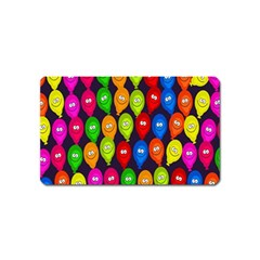 Happy Balloons Magnet (name Card) by Nexatart