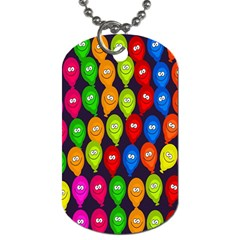 Happy Balloons Dog Tag (one Side) by Nexatart