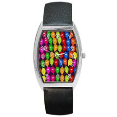 Happy Balloons Barrel Style Metal Watch by Nexatart