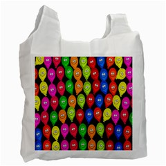 Happy Balloons Recycle Bag (one Side) by Nexatart