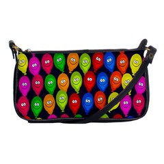 Happy Balloons Shoulder Clutch Bags by Nexatart