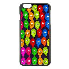 Happy Balloons Apple Iphone 6 Plus/6s Plus Black Enamel Case by Nexatart