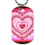 Heart Background Lace Dog Tag (One Side) Front