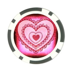 Heart Background Lace Poker Chip Card Guard (10 Pack) by Nexatart