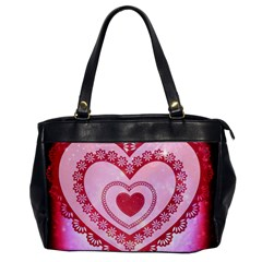 Heart Background Lace Office Handbags
