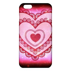 Heart Background Lace Iphone 6 Plus/6s Plus Tpu Case by Nexatart