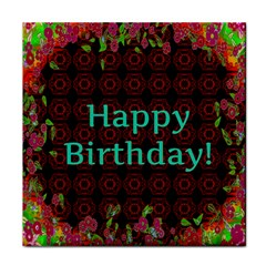 Happy Birthday! Tile Coasters