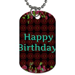 Happy Birthday! Dog Tag (two Sides)