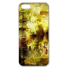 Grunge Texture Retro Design Apple Seamless Iphone 5 Case (clear)