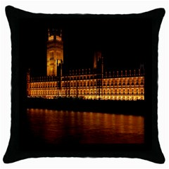 Houses Of Parliament Throw Pillow Case (black) by Nexatart
