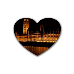Houses Of Parliament Heart Coaster (4 Pack)