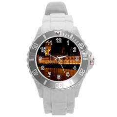 Houses Of Parliament Round Plastic Sport Watch (l)