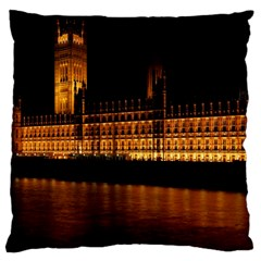 Houses Of Parliament Large Cushion Case (two Sides)