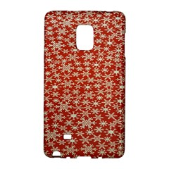 Holiday Snow Snowflakes Red Galaxy Note Edge by Nexatart