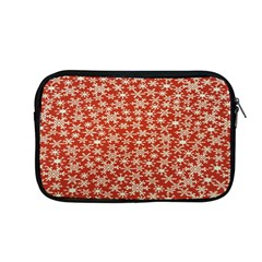 Holiday Snow Snowflakes Red Apple Macbook Pro 13  Zipper Case by Nexatart
