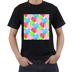 Holidays Occasions Valentine Men s T-shirt (black) (two Sided) by Nexatart