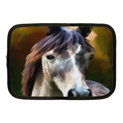 Horse Horse Portrait Animal Netbook Case (medium)  by Nexatart