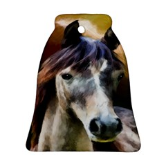 Horse Horse Portrait Animal Bell Ornament (two Sides)