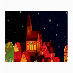 Market Christmas Light Small Glasses Cloth by Nexatart
