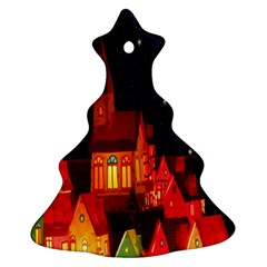 Market Christmas Light Christmas Tree Ornament (two Sides)