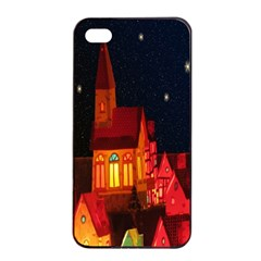 Market Christmas Light Apple Iphone 4/4s Seamless Case (black)