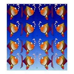 Illustration Fish Pattern Shower Curtain 66  X 72  (large)