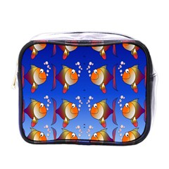 Illustration Fish Pattern Mini Toiletries Bags