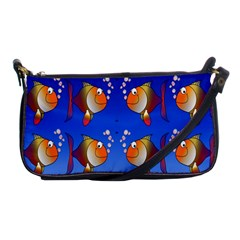 Illustration Fish Pattern Shoulder Clutch Bags by Nexatart