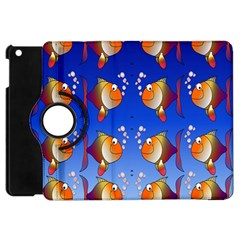 Illustration Fish Pattern Apple Ipad Mini Flip 360 Case by Nexatart