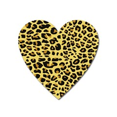 Jaguar Fur Heart Magnet by Nexatart