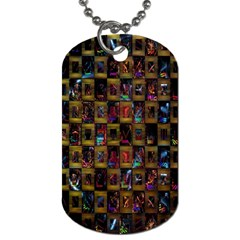 Kaleidoscope Pattern Abstract Art Dog Tag (one Side) by Nexatart