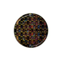 Kaleidoscope Pattern Abstract Art Hat Clip Ball Marker (4 Pack) by Nexatart