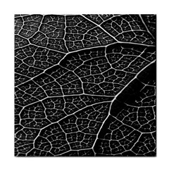 Leaf Pattern  B&w Tile Coasters
