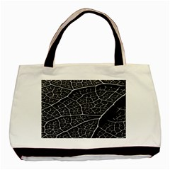 Leaf Pattern  B&w Basic Tote Bag (two Sides)