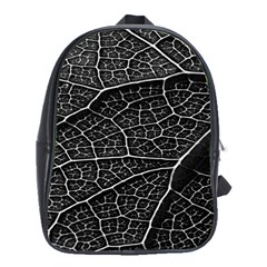 Leaf Pattern  B&w School Bags (xl)