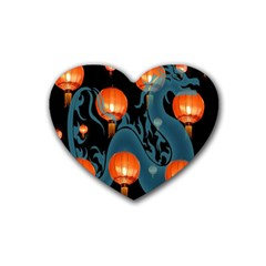 Lampion Heart Coaster (4 Pack)