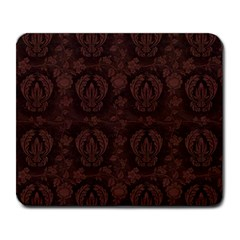 Leaf Pattern Green Wallpaper Tea Leather Large Mousepads by Nexatart
