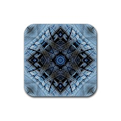 Jeans Background Rubber Square Coaster (4 Pack)