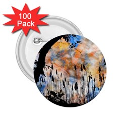 Landscape Sunset Sky Summer 2 25  Buttons (100 Pack)