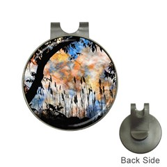 Landscape Sunset Sky Summer Hat Clips With Golf Markers