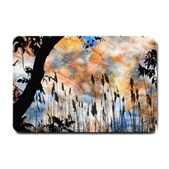 Landscape Sunset Sky Summer Small Doormat  by Nexatart