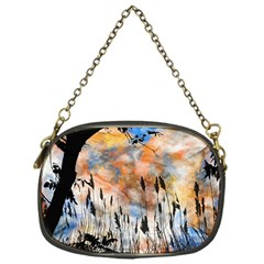 Landscape Sunset Sky Summer Chain Purses (one Side)