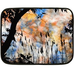 Landscape Sunset Sky Summer Fleece Blanket (mini) by Nexatart