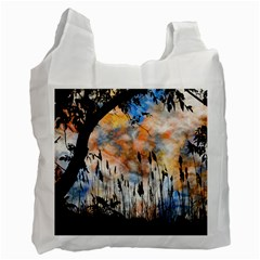 Landscape Sunset Sky Summer Recycle Bag (two Side)