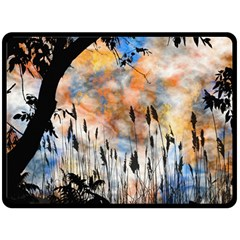 Landscape Sunset Sky Summer Fleece Blanket (large)  by Nexatart