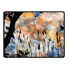 Landscape Sunset Sky Summer Fleece Blanket (small) by Nexatart